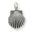 Sterling Silver Antiqued Sea Shell Charm