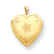 14k Gold Filled With Diamond 2-Frame Heart Locket