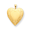 14k Gold Filled 2-Frame Heart Locket