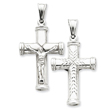 Sterling Silver Hollow Latin Crucifix Pendant