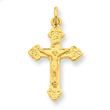 Sterling Silver 24k Gold Plated INRI Crucifix Charm