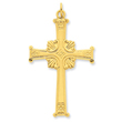 Sterling Silver 24 Gold Plated Latin Cross Pendant
