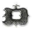 Sterling Silver Antiqued Gothic Initial D Pendant