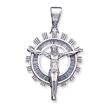 Sterling Silver Cubic Zirconia Crucifix Pendant
