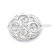 Sterling Silver Satin Finish Diamond Cut Scroll Pin