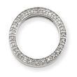 14K White Gold  1/10Ctw Circle Diamond Pendant