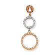 14K Two-Tone Gold Triple Circle Diamond Pendant