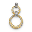 14K Two-Tone Gold Pave Diamond Pendant