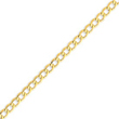 14K Gold 5.25mm Semi-Solid Curb Link Chain