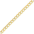 14K Gold 6.5mm Semi-Solid Curb Link Chain