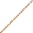 14k Rose Gold 1.7mm Rope Anklet