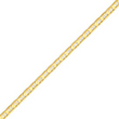 14K Gold 3.75mm Concave Anchor Bracelet