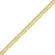 14K Gold  4.5mm Concave Anchor Bracelet