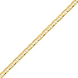 14K Gold 5.25mm Concave Anchor Bracelet