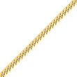 14K Gold 6.25mm Domed Curb Chain