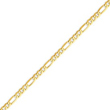 14K Gold 4mm Flat Figaro Chain