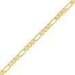 14K Gold 4.75mm Flat Figaro Link Chain