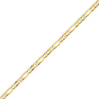 14K Gold 3mm Concave Open Figaro Bracelet