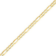 14K Gold 4mm Concave Open Figaro Bracelet