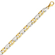 14K Two-Tone Gold 8mm Fancy Link Bracelet