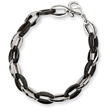 Stainless Steel and Black Color IP-plated Fancy Bracelet