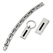 Stainless Steel Enameled Bracelet, Money Clip And Key Chain Set