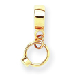 14K Gold Reflections Cubic Zirconia Engagement Ring Dangle Bead
