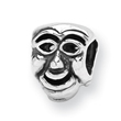 Sterling Silver Reflections Comedy Mask Bead