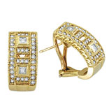 Picture of 18K Yellow Gold 1.0ct Diamond Antique-Style Earrings SI1-SI2 G-H