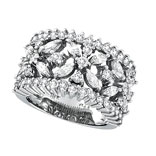 Picture of 18K White Gold 2.34 Diamond Floral Burst Ring SI1-SI2 G-H