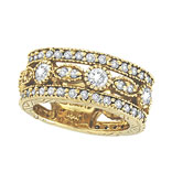 Picture of 18K Yellow Gold 2.15ct Diamond Eternity Ring Band SI1-SI2 G-H