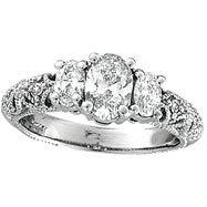 Picture of 18K White Gold Three Stone 1.25ct Diamond Ring SI2 H-I