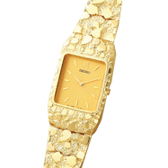 Picture of 14K Gold Men's Nugget Style Square Champagne Dial Water Resistant Watch