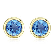 Picture of ROUND BLUE TOPAZ STUDS