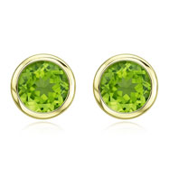 Picture of ROUND GREEN PERIDOT BEZEL SET STUDS