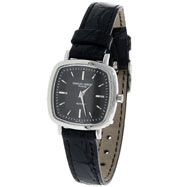 Picture of Ladies' Charles Hubert Black Leather Band Square Face Watch