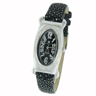 Picture of Ladies' Charles Hubert Premium Collection Black Dial & Band Diamond Watch