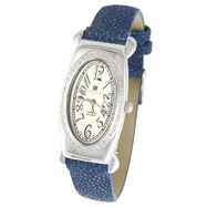 Picture of Ladies' Charles Hubert Premium Collection White Dial & Blue Band Diamond Watch