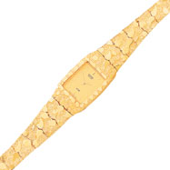 Picture of 10K Gold Yellow Dial Square Face Nugget Watch