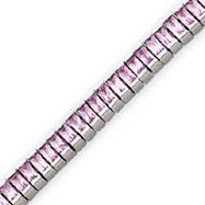 Picture of Sterling Silver Pink CZ Bracelet