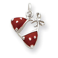 Picture of Sterling Silver Enameled Red Bikini Top Charm