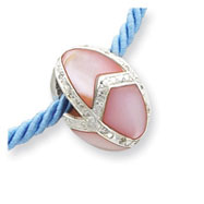 Picture of Sterling Silver Pink Mother Of Pearl Easter Egg Pendant