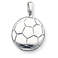 Picture of Sterling Silver Antiqued Soccer Ball Pendant