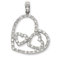 Picture of Sterling Silver CZ Heart Pendant