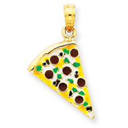 Picture of 14K Gold Enameled Pizza Slice Pendant