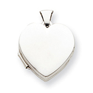 Picture of Sterling Silver Plain Heart Locket