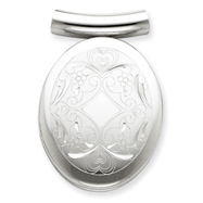 Picture of Sterling Silver Oval Slide Locket