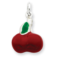 Picture of Sterling Silver Enameled Cherry Charm