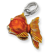 Picture of Sterling Silver Enamel Goldfish Charm