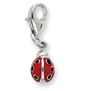 Picture of Sterling Silver Red Enameled Lady bug Charm